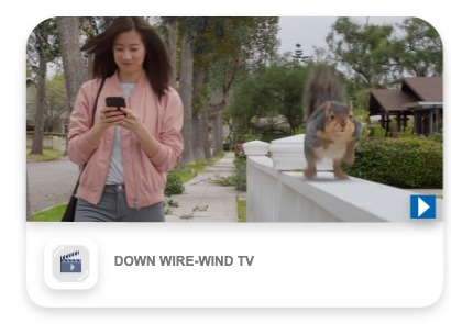 Down wire wind tv